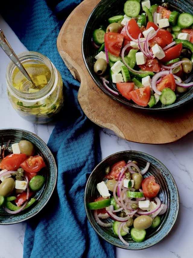 Griekse salade hoofdgerecht