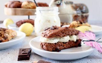 Chocolade fudge scones recept