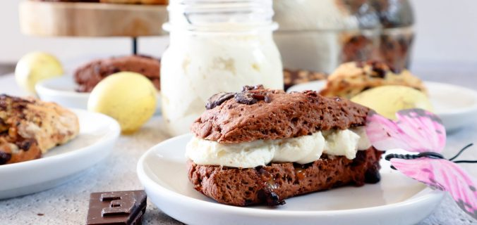 Chocolade fudge scones recept