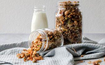 Pistache en amandelen granola