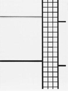 Composition04, 2016, encre sur papier, 40 x 30cm
