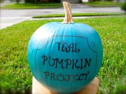 My teal pumpkin