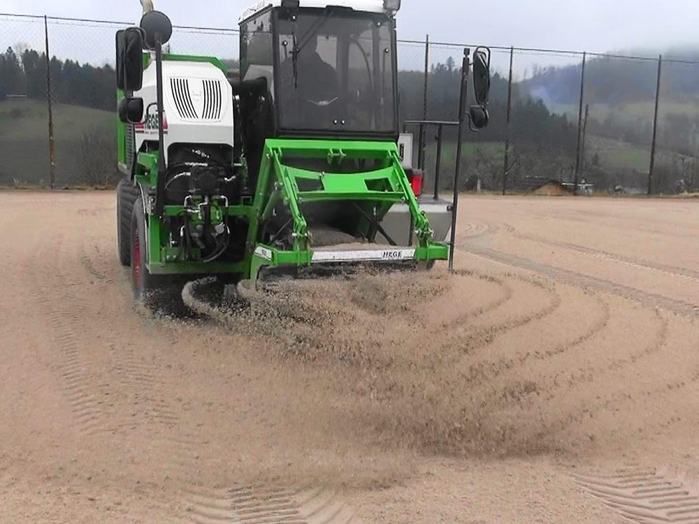 Mise en place sable