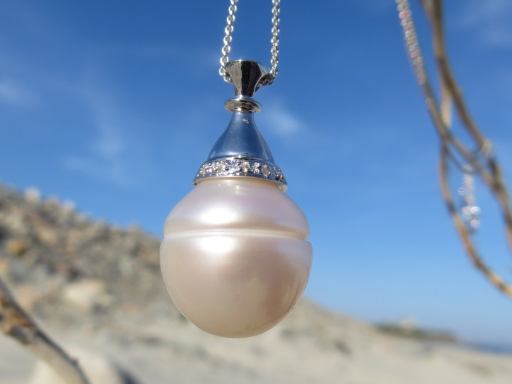 South Sea Pearl, South Sea Pearls, Pearl, Pearls, Pendant, Pendants, Necklace, Necklaces, 14Kt Gold, 14Kt White Gold, White Gold, Providence, Jewelry Store, Jewelry, Jeweler, Platinum, Gold, Diamonds, Engagement, Wedding, Hegeman & Co.