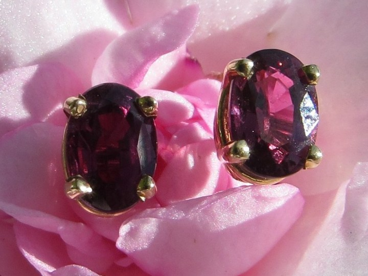 Custom-Made Ruby Earrings