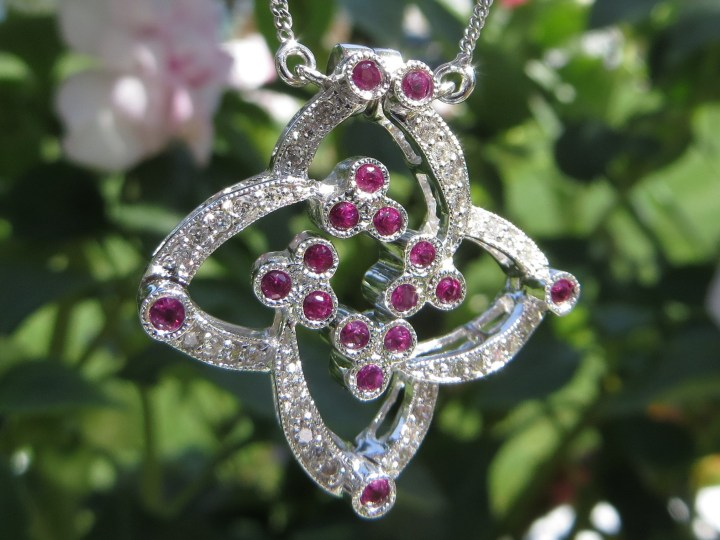 Custom Convertible Diamond and Ruby Necklace