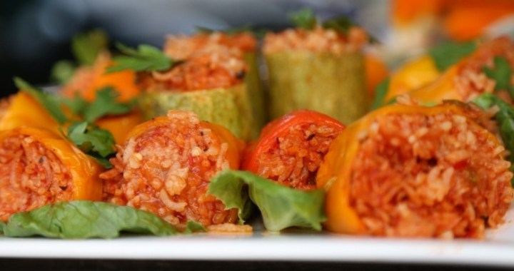 Rice Stuffed Bell Peppers