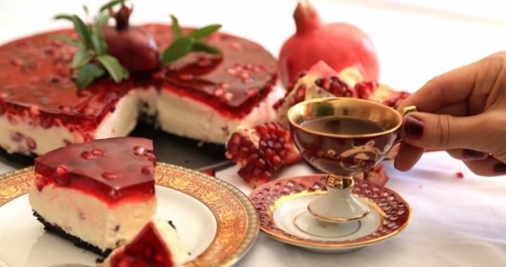 No Bake Pomegranate Cheesecake Recipe