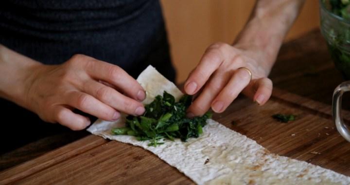 Green Stuffed Bread Lavash Recipe