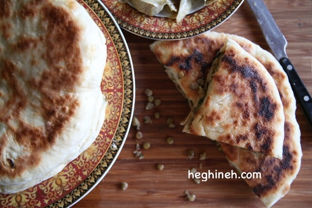 Lentil Stuffed Bread - Lentil Pie Recipe