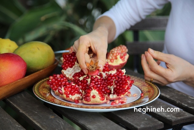 How to Peel and Cut a Pomegranate