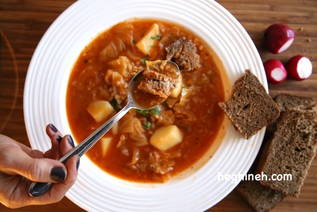 Pickled Cabbage Soup Recipe - Qrchik - Քրչիկ