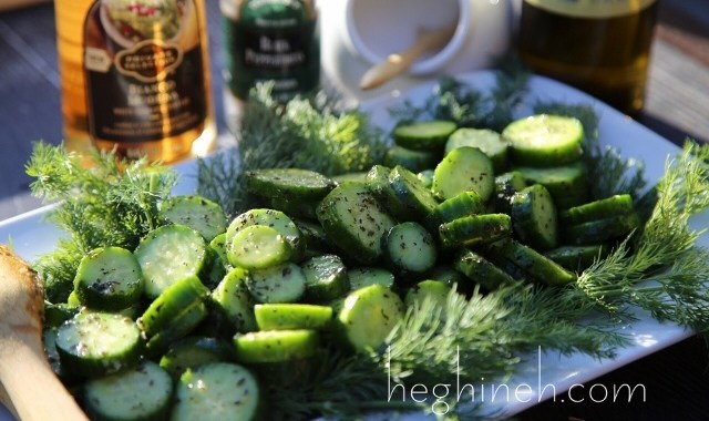 Cucumber Mint Salad Recipe - Armenian Cuisine