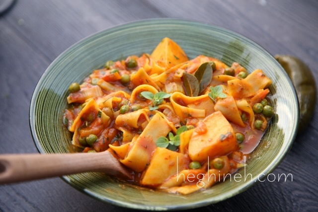 Potato Noodles Stew Recipe - Armenian Cuisine