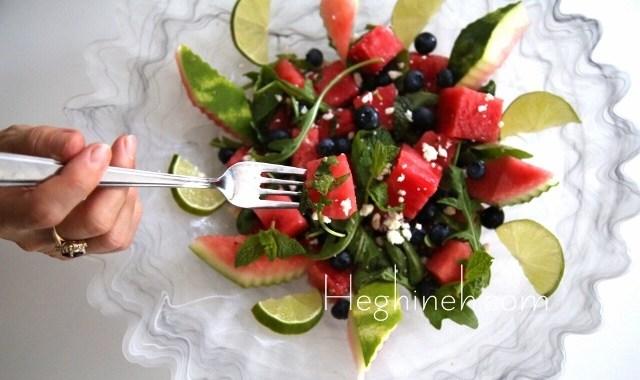 Watermelon Salad Recipe - Ձմերուկով Աղցան