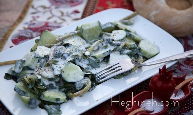 Purslane Cucumber Salad Recipe