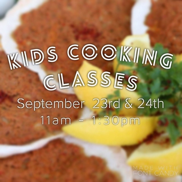 Kids Cooking Classes Sep 23rd & 24th