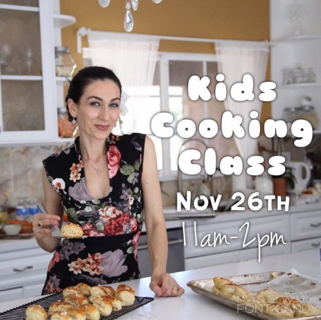 Kids Cooking Class – November 26th