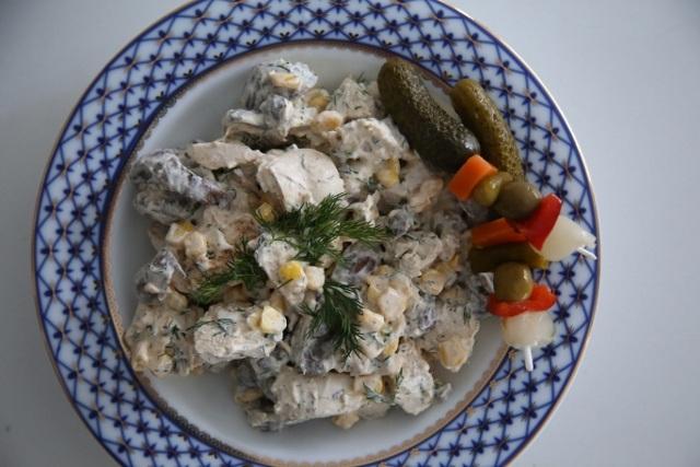 Chicken Mushroom Salad Recipe - Հավով Սնկով Տոնական Աղցան