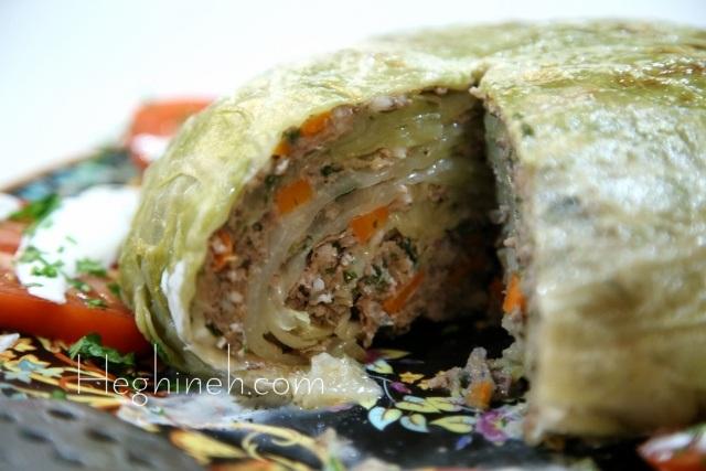 Stuffed Cabbage Head - Armenian Cuisine