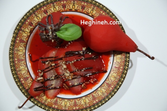Poached Pears Recipe - Տանձը Գինու Մեջ - Heghineh Cooking Show