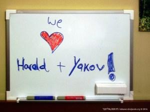 Surpresa de agradecimento a Harold Michal-Smith e Yaakov Gladstone | 2005