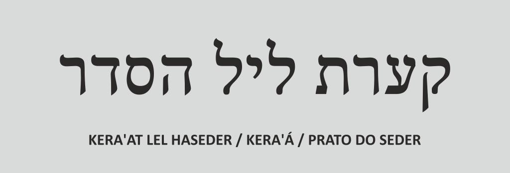 header - Vamos precisar para o nosso Seder