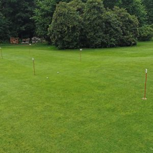 Das kleine Puttinggrün bei Golf am Heerhof