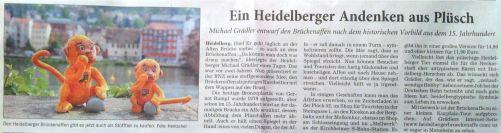 RNZ Ein Heidelberger Andenken aus Plüsch