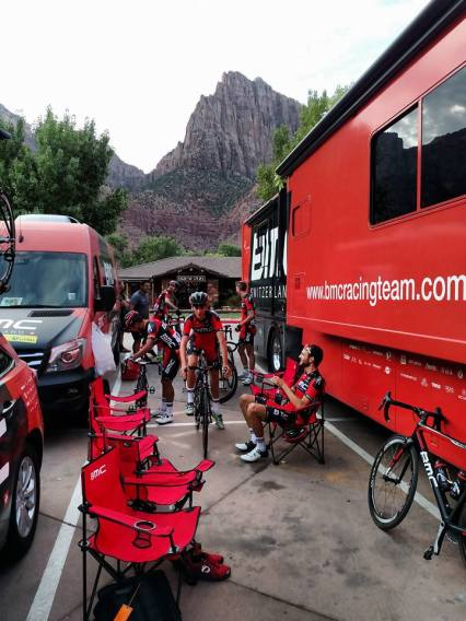 20 minutes to the start of Stage 1 through Zion Canyon Village to Cedar City, Utah.