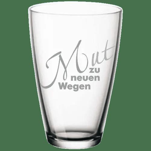 Wasserglas Mut zu neuen Wegen
