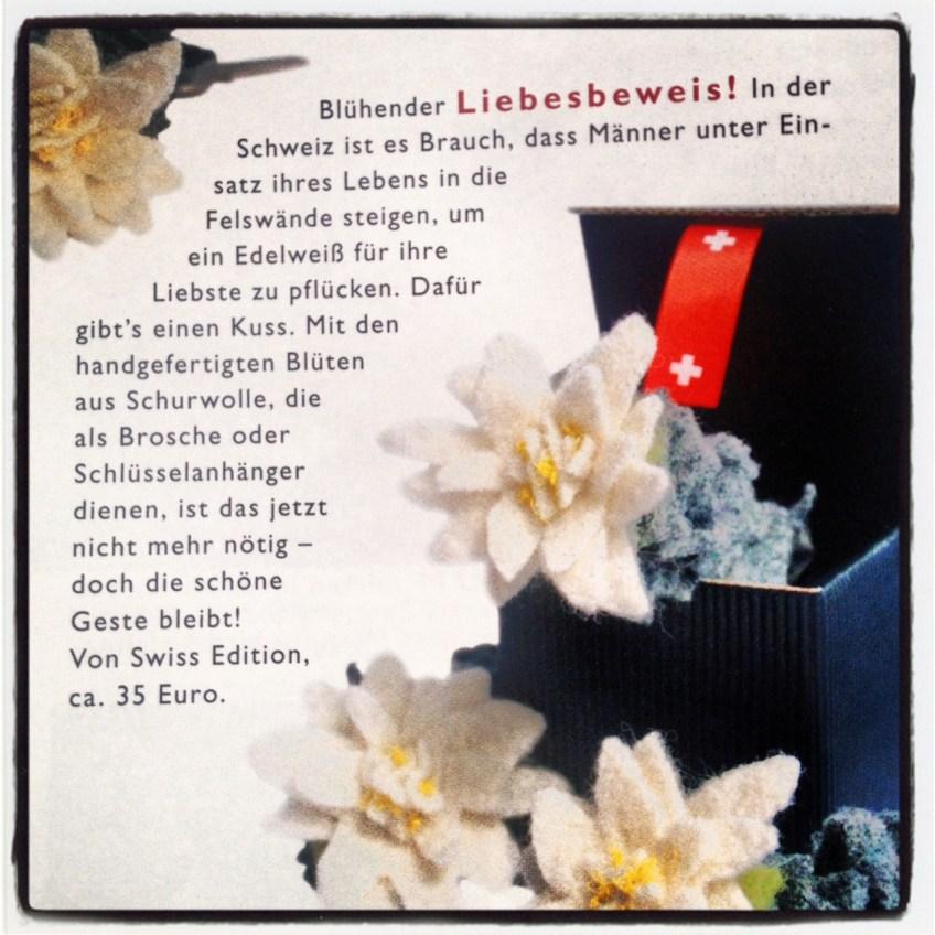 Das neuste Kultobjekt von swissEdition ist - ein Stück Schweiz zum verschenken..