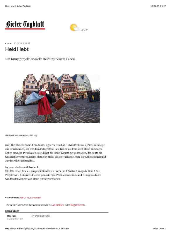 Heidi lebt | Bieler Tagblatt_Seite_1
