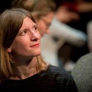 Piroska Szönye Vortrag am 15.10.2019 im Gasteig (Black Box) vor der Typographischen Gesellschaft München (tgm)