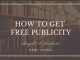How to get Free Publicity