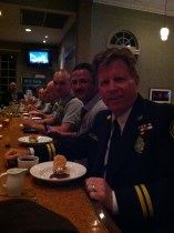 Captain Rob Brisley and the Charlotte Fire Fighters enjoyed and every course