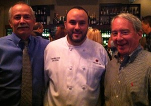 Chef Jon Fortes, Center with Harpers' Group's Steve Seitz, left and Tom Sasser, right
