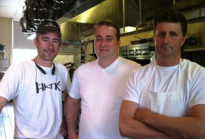 Team Barrington's; from left, Chef Mike Vergili, Chef Kerry Moffett and Chef Bruce Moffett