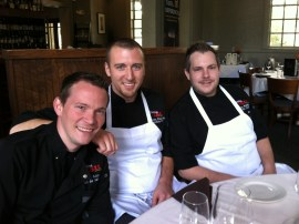 Team Cantina 1511 - from left, Chef Greg Balch, Chef Vincent Giancarlo and Chef Kyle Biddy