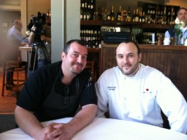 Friendly semi final competitors, Chef Luca Anunziata and Chef Jon Fortes