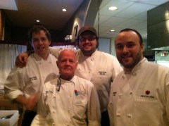 Team Mimosa with chef ref Billy Seay; fron left Chef Thomas Marlow, Chef Ref Billy, Chef Joseph Cornett and Exec Chef Jon Fortes