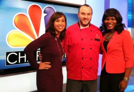 Chef Jon Fortes with Charlotte Today's Colleen Odegaard and Ramona Holloway