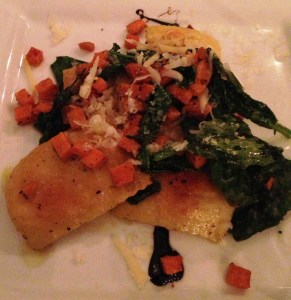 The Flipside's Crispy Ravioli with local sweet potatoes is outstanding - perhaps our table's favorite plate of the evening