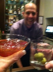 Cheers to The Dunhill's bartender Pete Ladino who makes you feel right at home