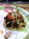 Al Pastor Pork on a griddle fried corn arapas
