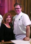 Heidi Billotto with Chef Nathan Volz from the Ritz -Carlton in Charlotte