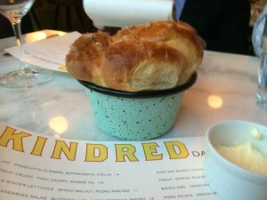 Kindred's Milk Bread is one of the dishes that sparked the attention of Bon Appetit magazine...and with good reason!