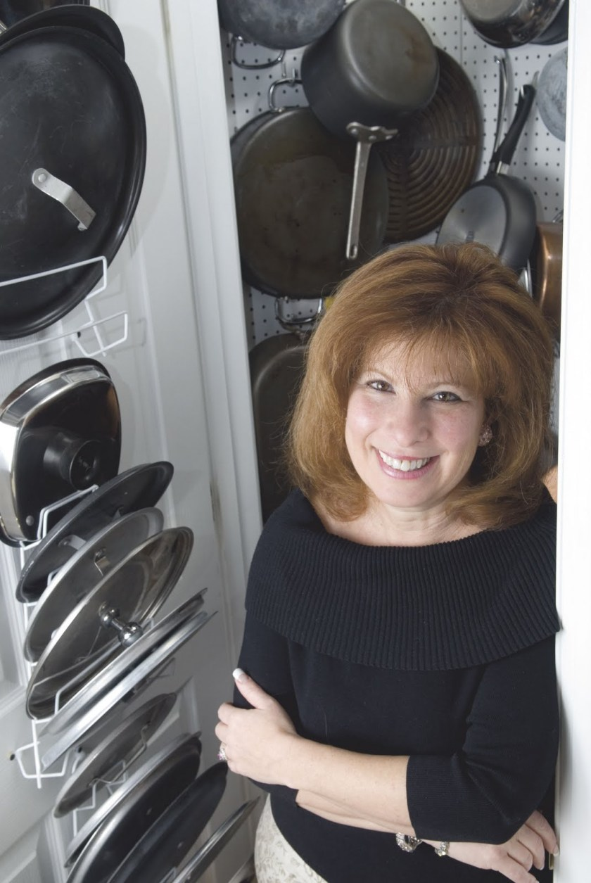 Heidi Billotto with cookware