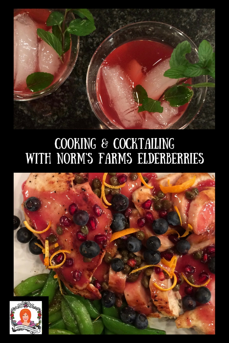 Cooking & Cocktailing with Norm's Farms Elderberries
