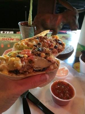Ground Beef Burrito at Tipsy Burro